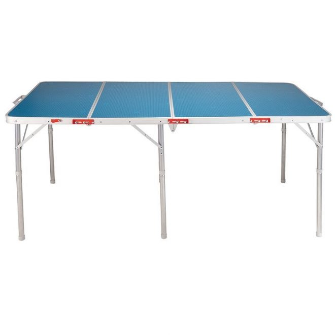 table de camping bleu